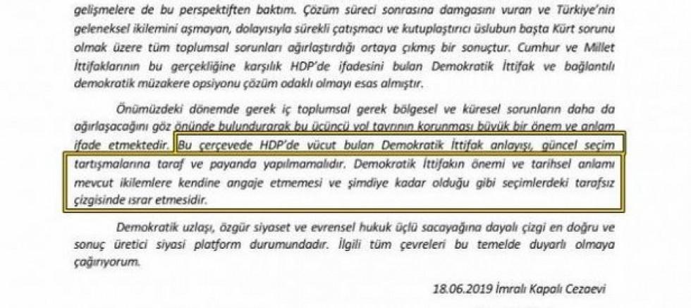 AKP Öcalan'dan Medet Umuyor