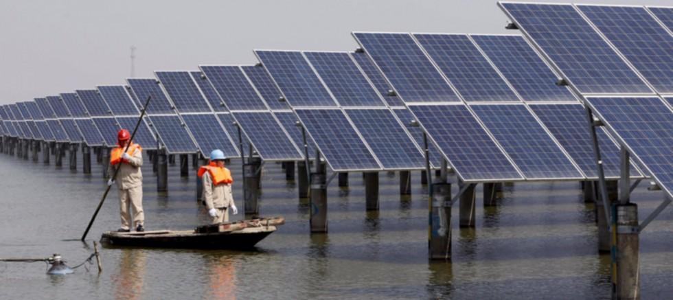 Çin'den Yüzen Güneş Enerji Santrali
