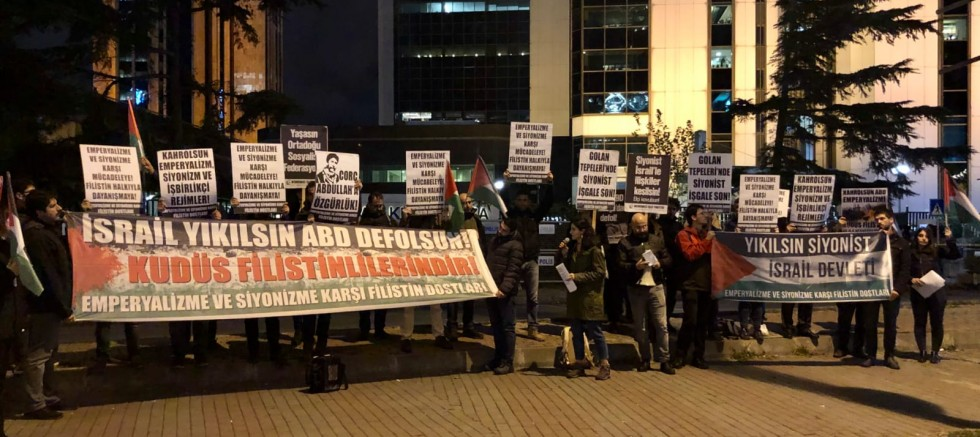 Filistin Dostları İsrail'i Protesto Etti