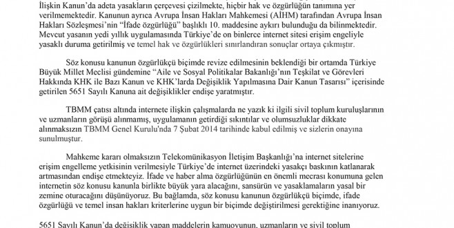 İYAD'dan Cumhurbaşkanı Gül'e Mektup