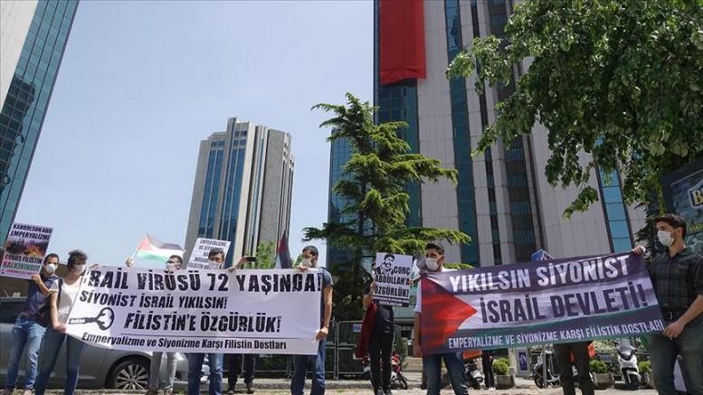 Nekbe'nin 72. Yılında İsrail Protesto Edildi